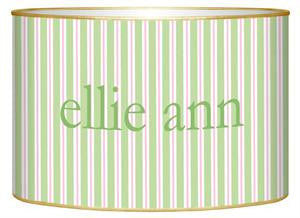 Green & Pink Stripe Letter Box