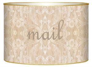 Beige Damask Letter Box