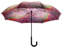 Monet's Garden Stick Umbrella Reverse