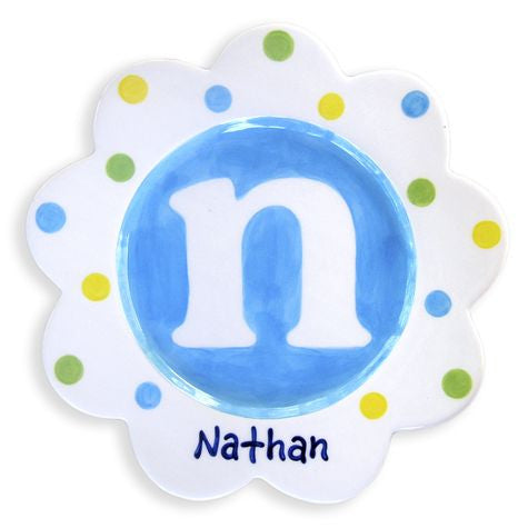 Personalized Monogram Plate (Boy)