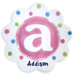 Personalized Monogram Plate (Girl)