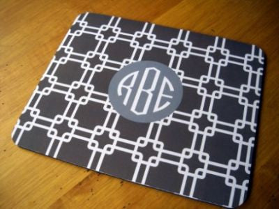 Monogrammed Brown Links Mouse Pad