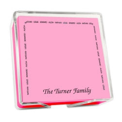 Family Arch Memo Square - Carnival with holder