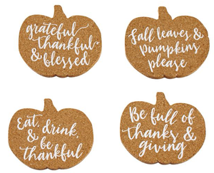 Thanksgiving Coaster Set