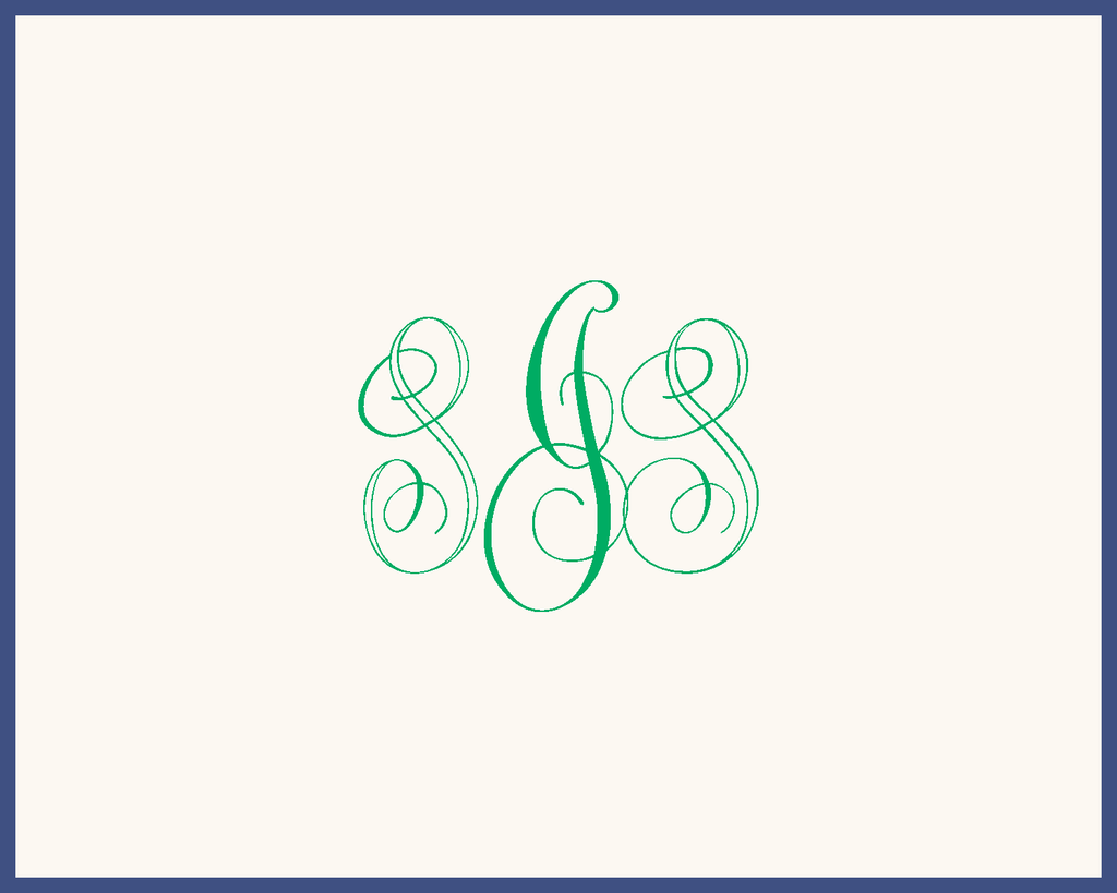 London Monogram Note - Raised Ink