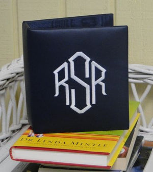 Small Monogrammed Leather Photo Album