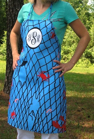 Monogrammed Seafood Net Apron