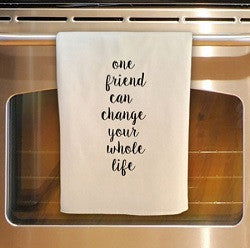 One Friend Tea Towel