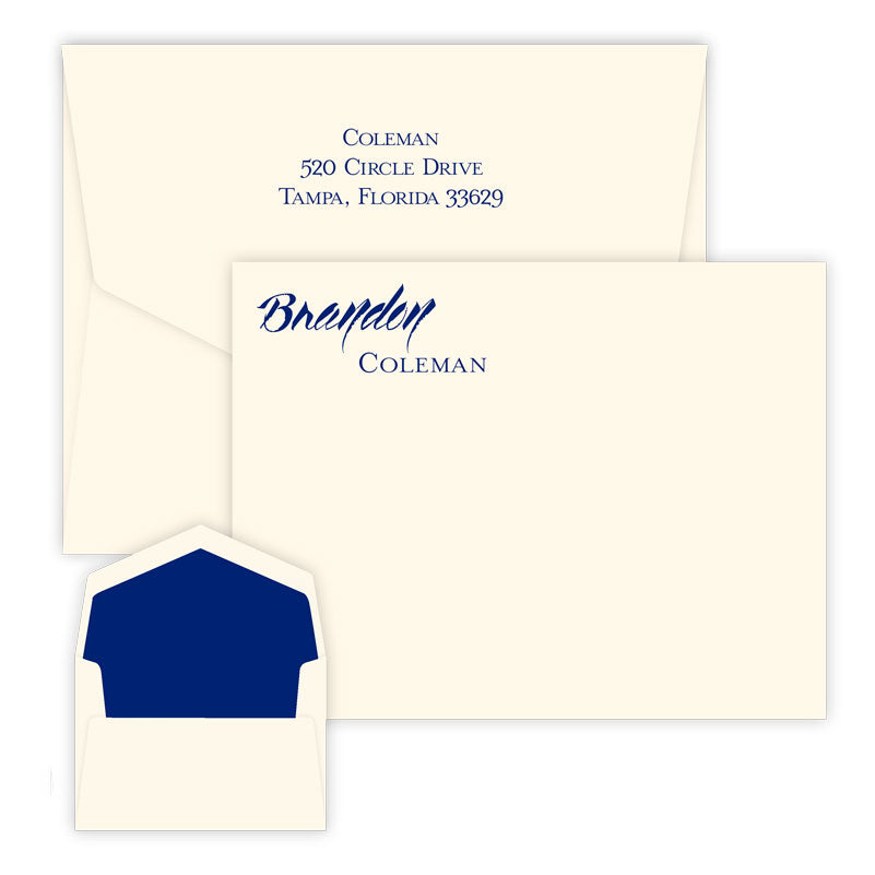 Ovation - Raised Ink Flat Correspondence Card