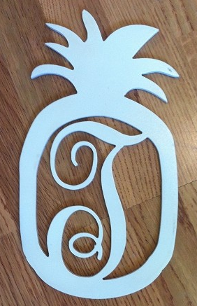 Pineapple Single Initial Door Hanger