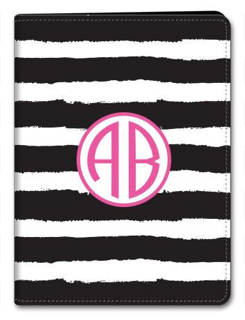 Personalized Painted Stripe iPad 2/3/4 Folio