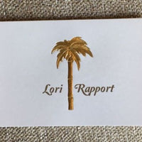 Personalized Palm Tree Folded Notes