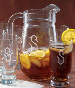 Monogrammed Retro Pitcher Set
