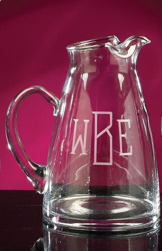 Monogrammed Crystal Tower Pitcher