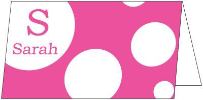 Bubble Hot Pink Folded Enclosure Card