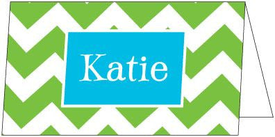 Zig Zag Green Folded Enclosure Card