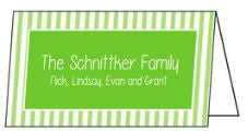 Green Stripe Folded Enclosure Card