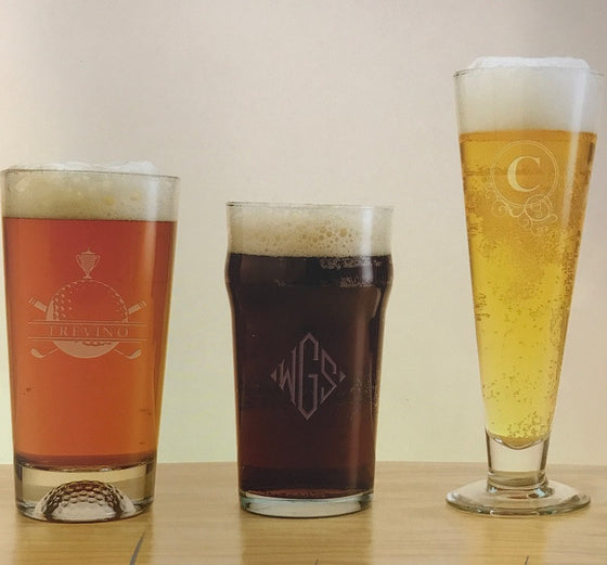 Monogrammed Ale House Pilsners