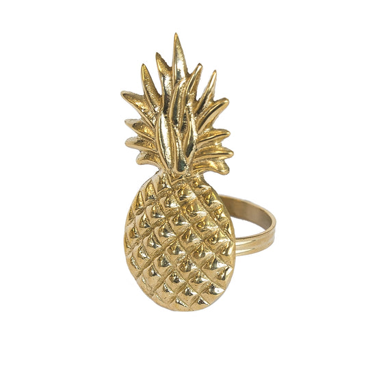 Pineapple Napkin Rings/Set of 4