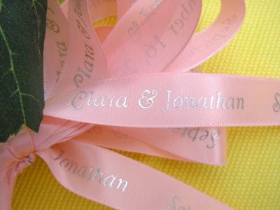 Custom Printed Satin Ribbon - Pinks & Purples