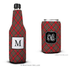 Plaid Red Koozies