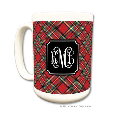 Plaid Red Coffee Mug