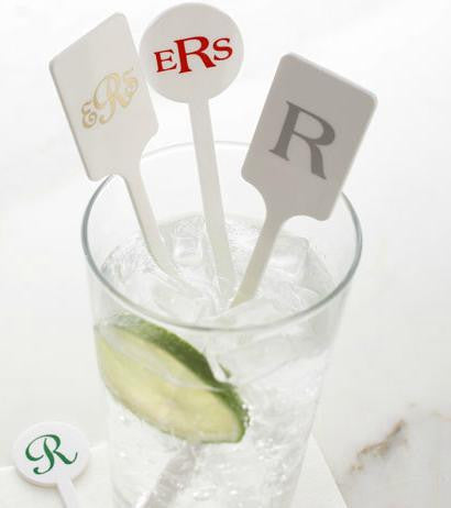 Monogrammed Plastic Stir Sticks