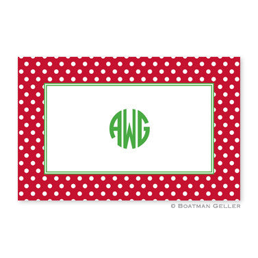 Polka Dot Red Placemat