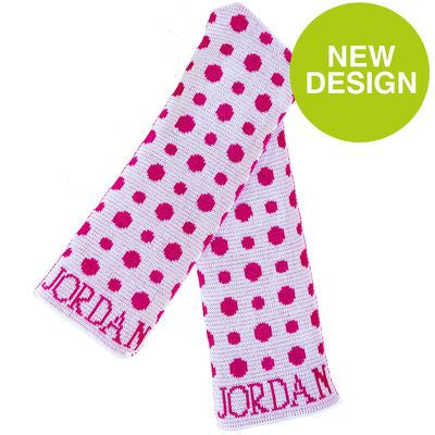 Personalized Polka Dots Scarf