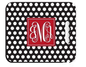 Monogrammed Polka Dot Stadium Cushion