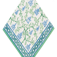 Pagoda Blue and Green Napkin/Set of 4