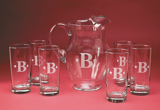 Monogrammed Posh Pitcher Set