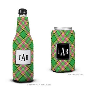 Preppy Plaid Koozies