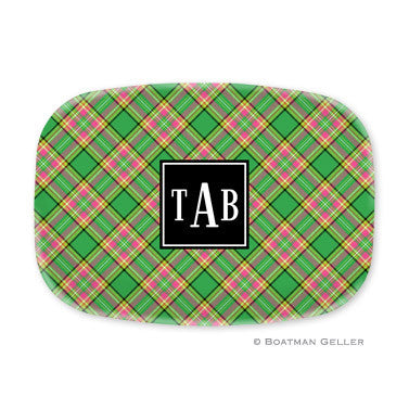 Preppy Plaid Melamine Platter