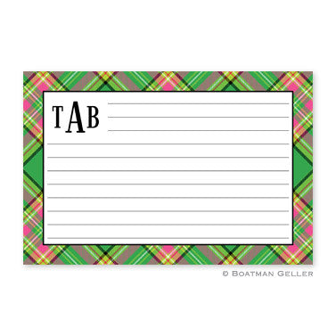 Preppy Plaid Recipe Card