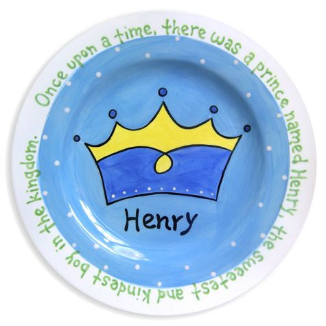 Personalized Prince Crown Plate