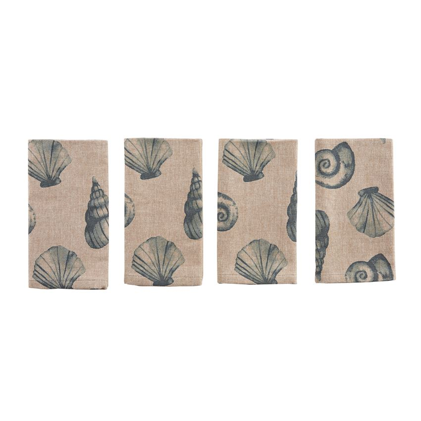Natural Shell Napkins/Set of 4