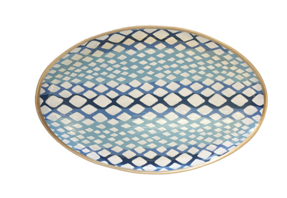 Blue Python Tray by Dana Gibson