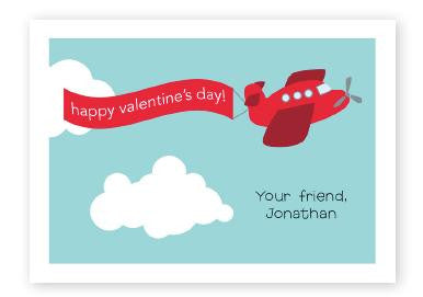 Red Airplane Valentine