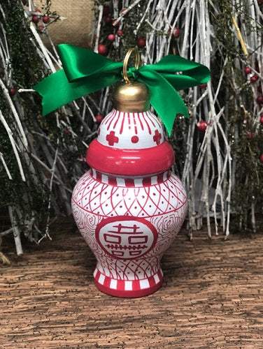 Tom Tom Handpainted Ginger Jar Ornaments