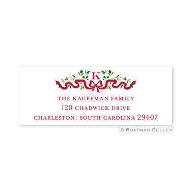 Ribbon Holiday Address Label