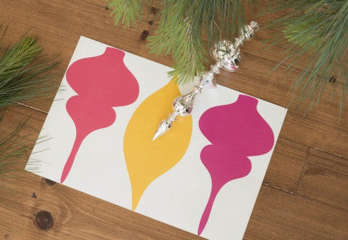 Rouge Ornament Paper Placemats