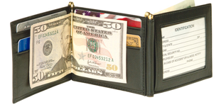 Monogrammed Men's Double Money Clip Wallet