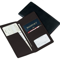 Monogramemd Leather Passport Ticket Holder