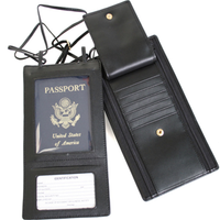 Monogrammed Security Passport Wallet