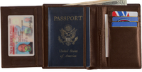 Monogrammed Leather European Passport Wallet