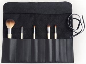 Monogrammed Cosmetic Make Up Brush Case in Genuine Leather