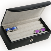 Leather Mini Cufflink Box