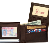Monogrammed Leather Men's Removable ID Pass Case Wallet