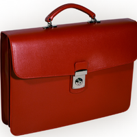 Slim Saffiano Briefcase